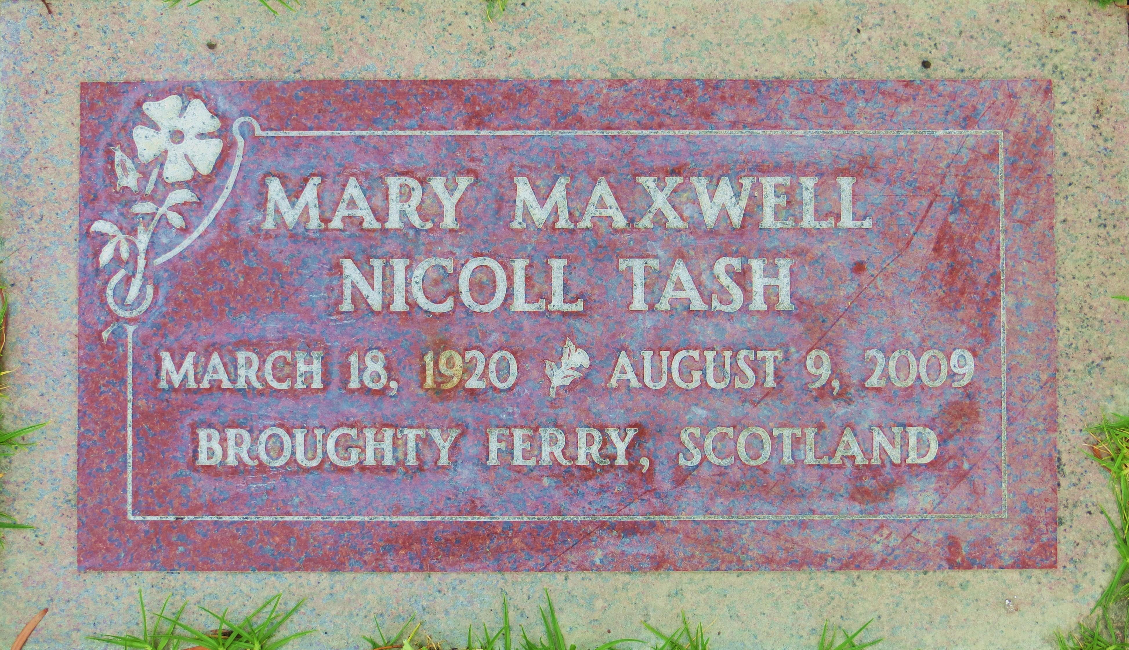 Mary Maxwell <i>Nicoll</i> Tash