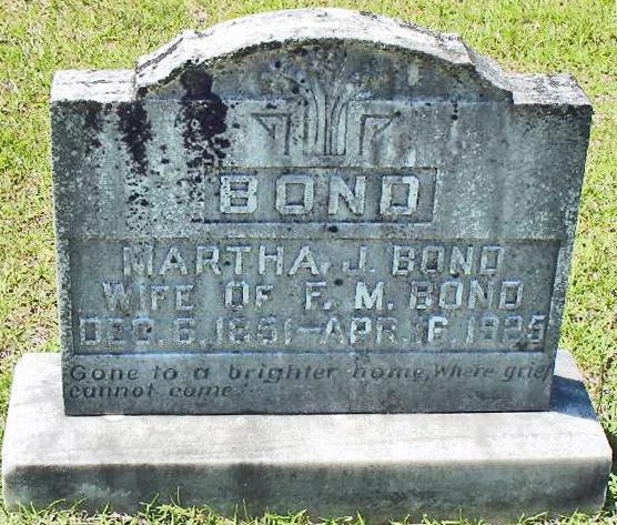 Martha Jane <i>Whitmire</i> Bond
