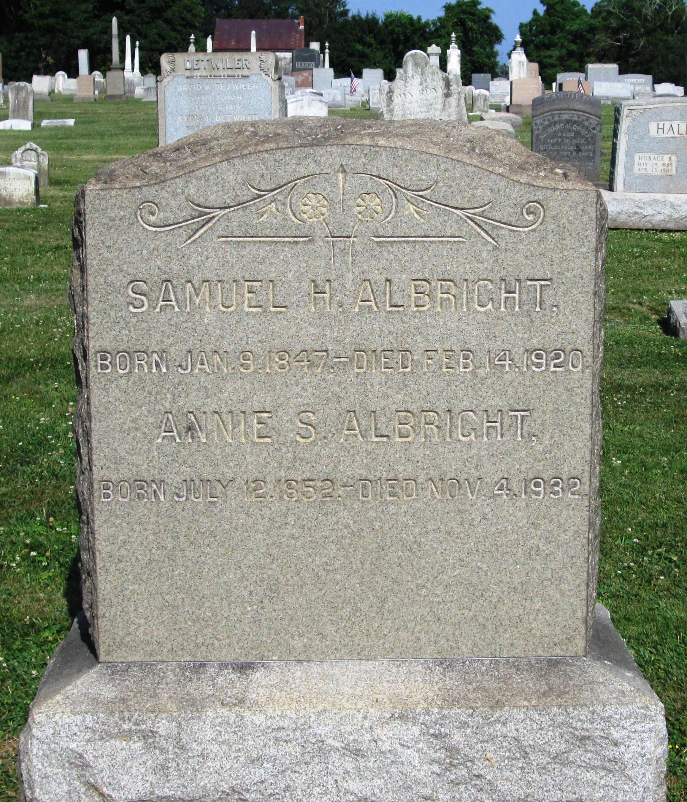 Annie S. <i>Umstead</i> Albright
