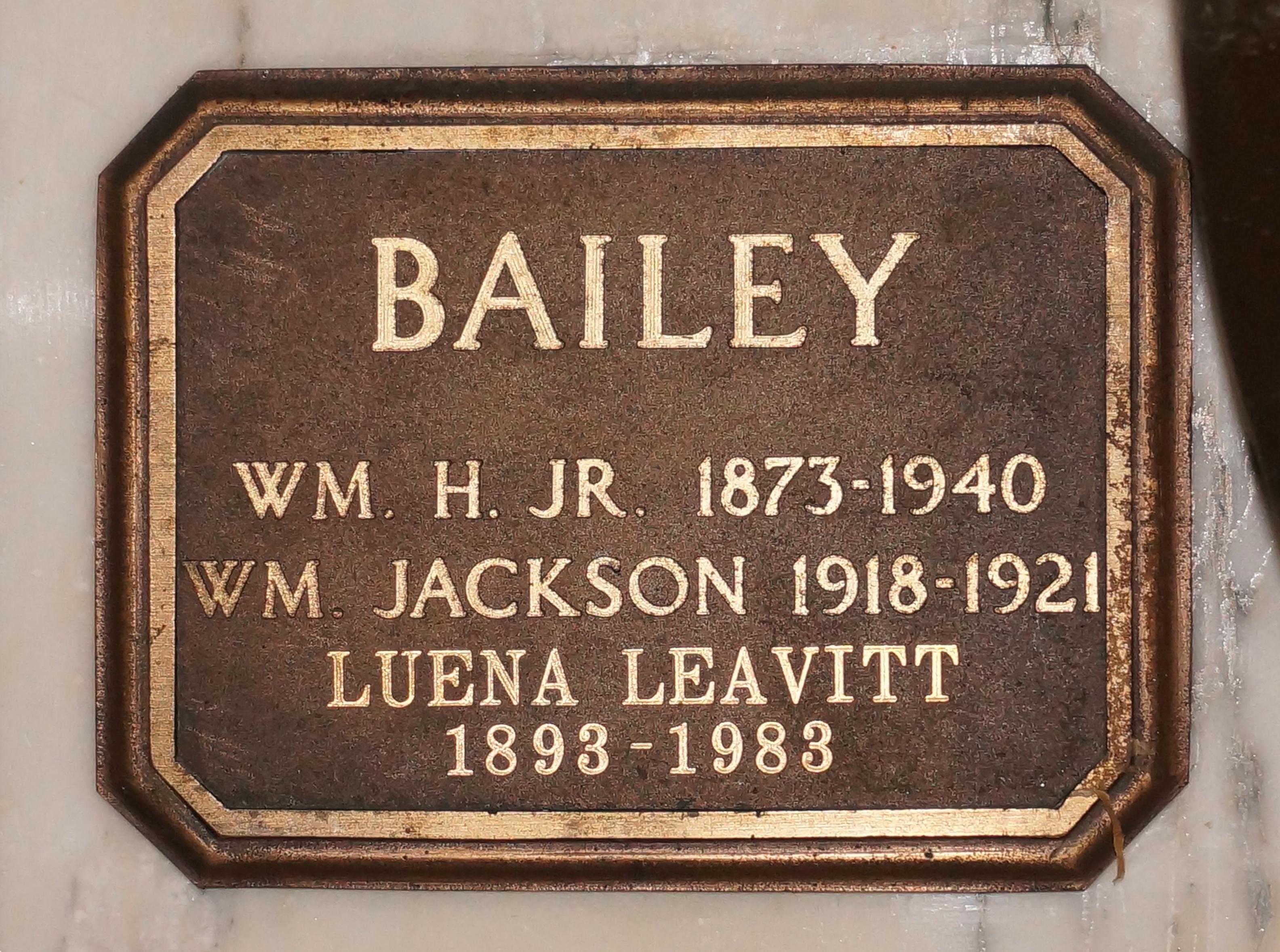 Luena Lillian <i>Jackson</i> Bailey