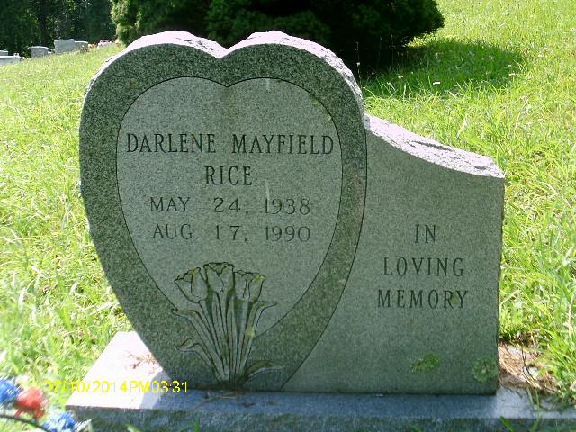 Darlene <i>Mayfield</i> Rice
