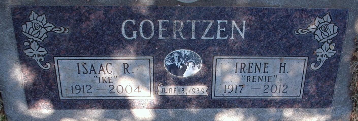 Isaac R Ike Goertzen