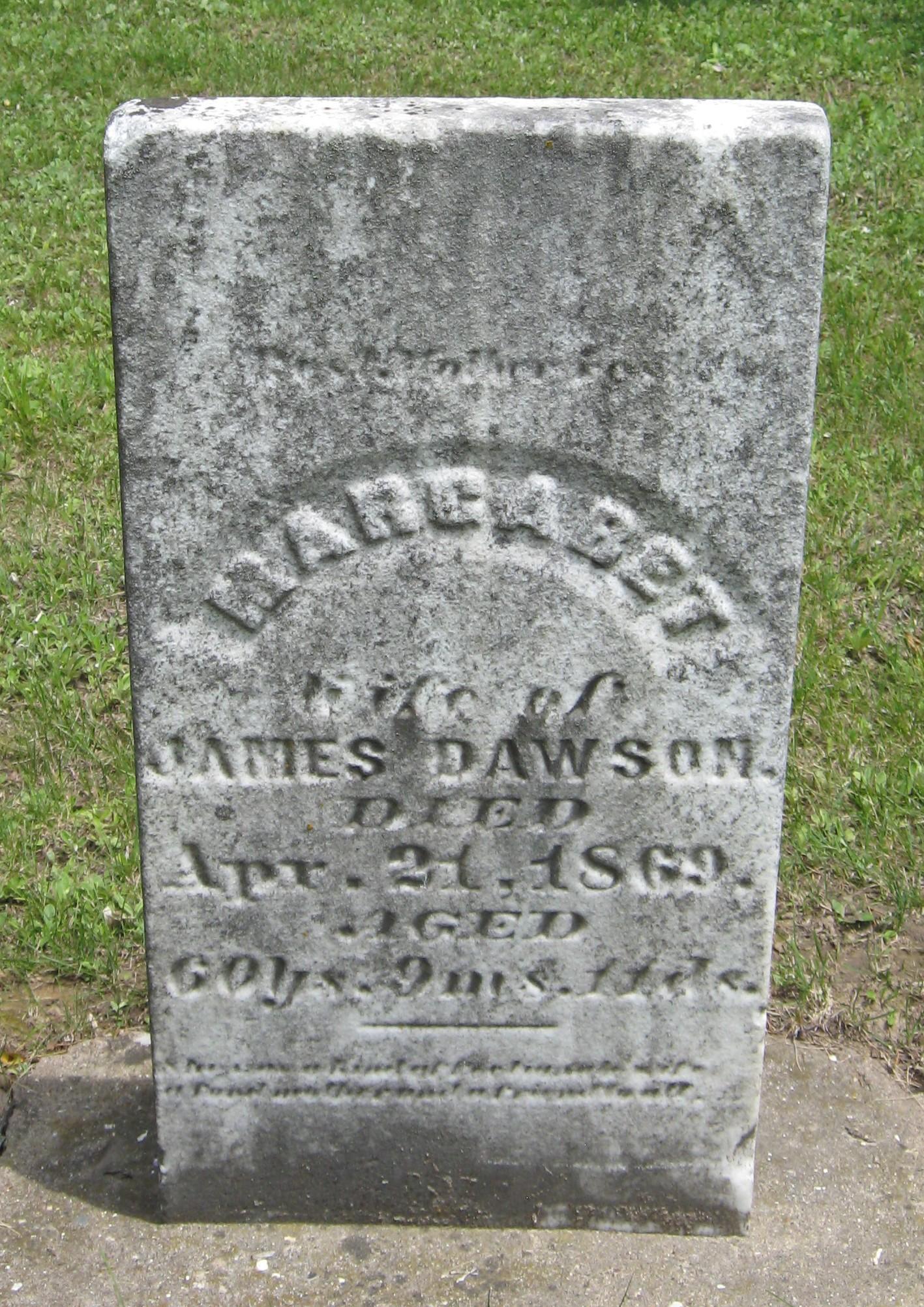 Margaret <i>Claypool</i> Dawson