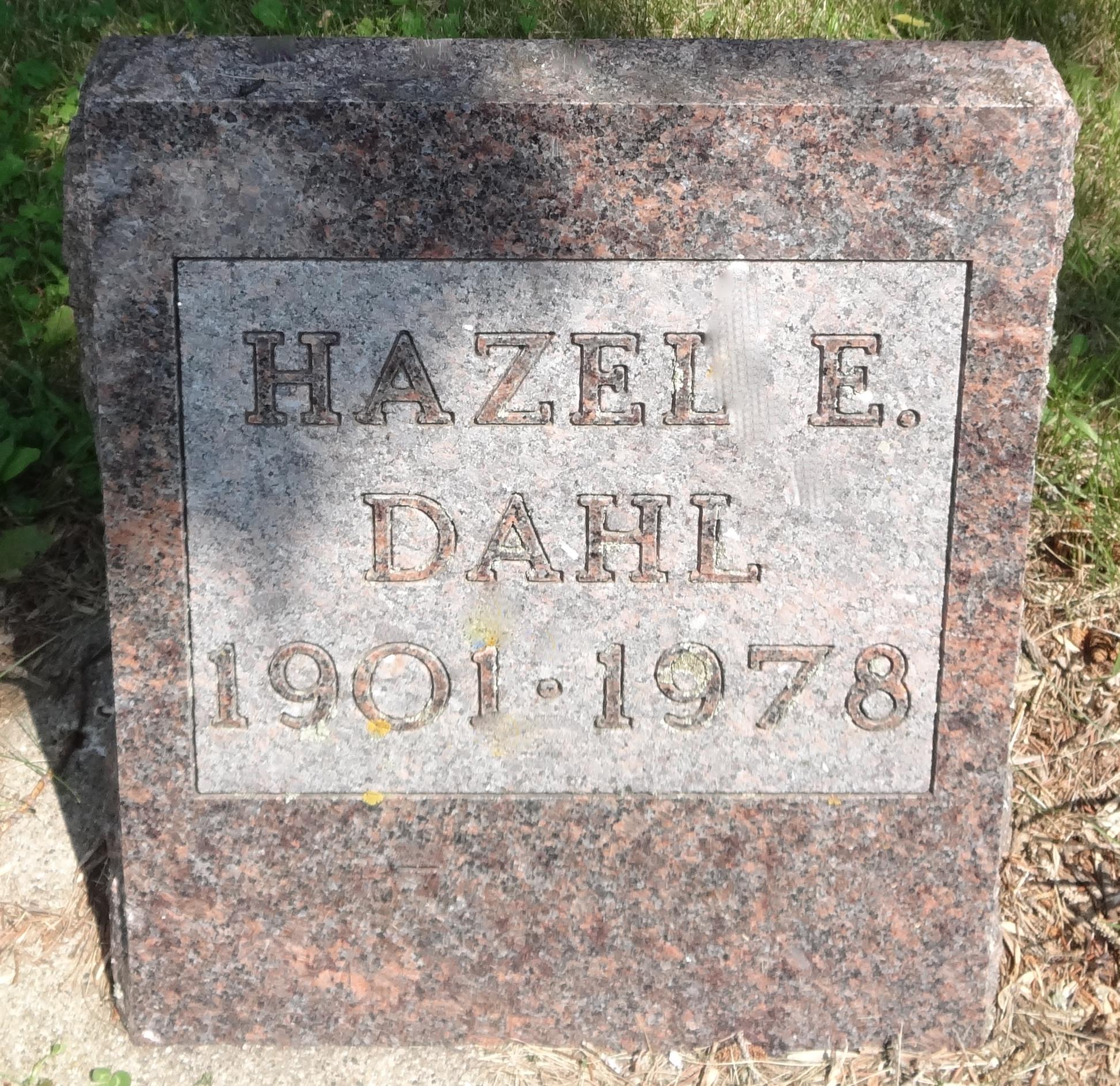 Hazel E Dahl