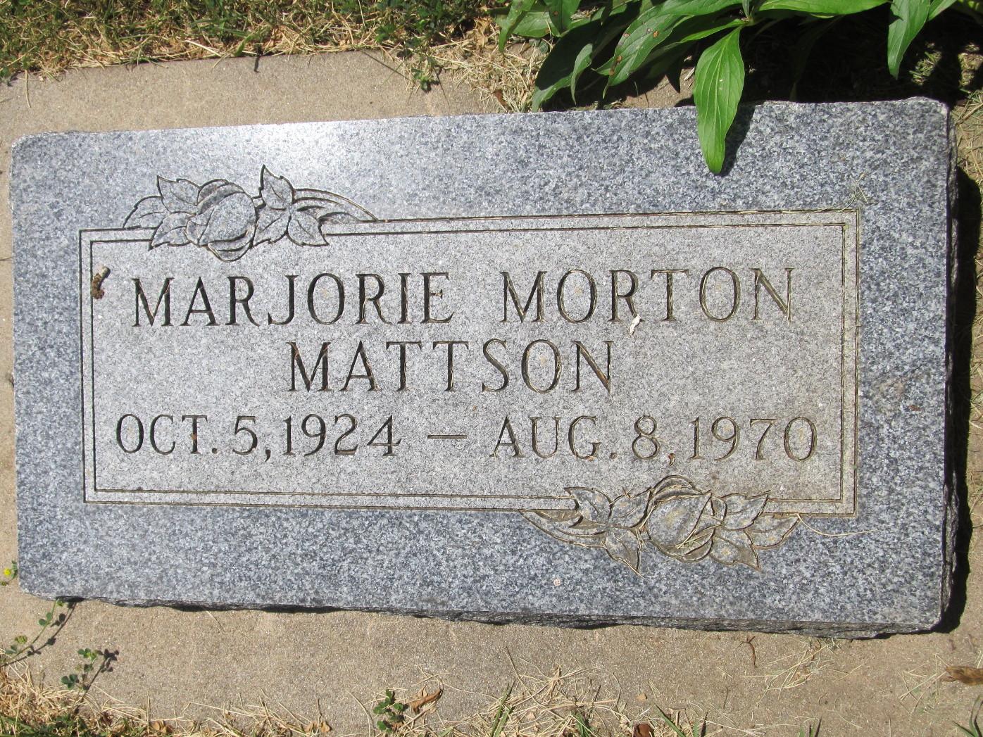 Marjorie <i>Morton</i> Mattson