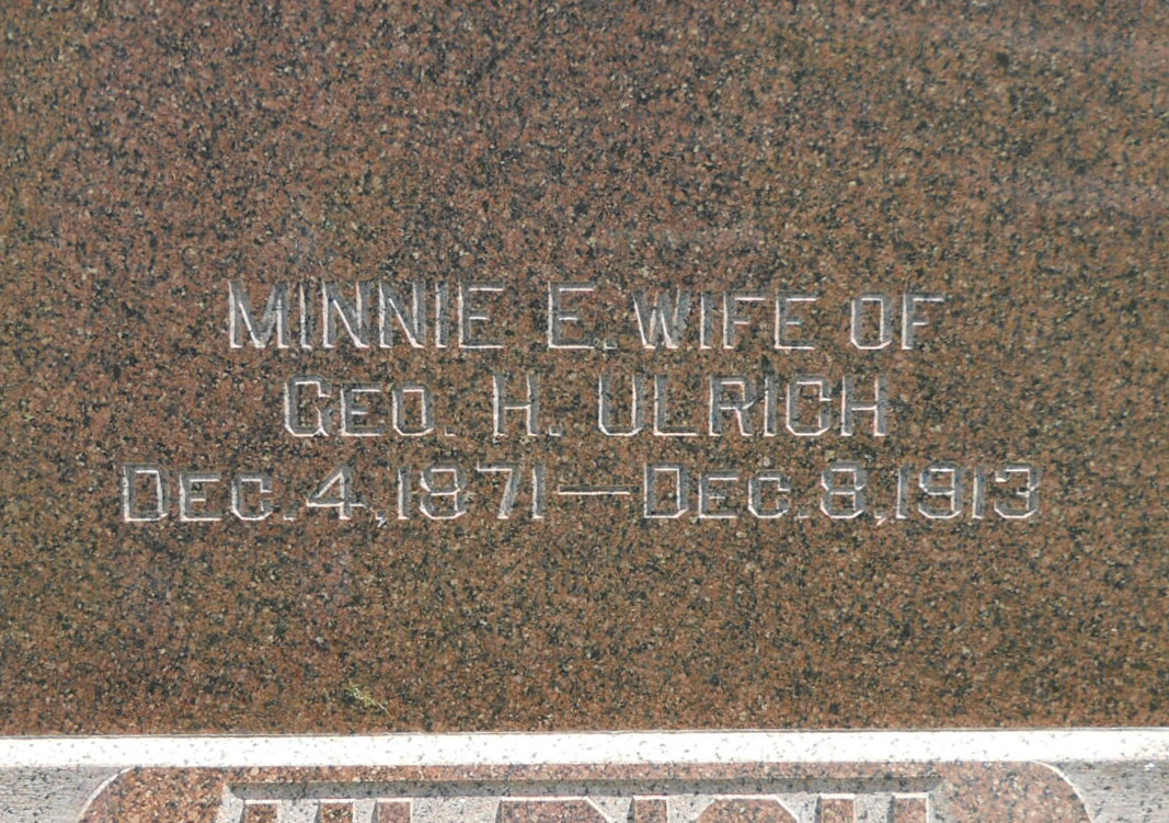 Minnie Edith <i>Baggs</i> Ulrich