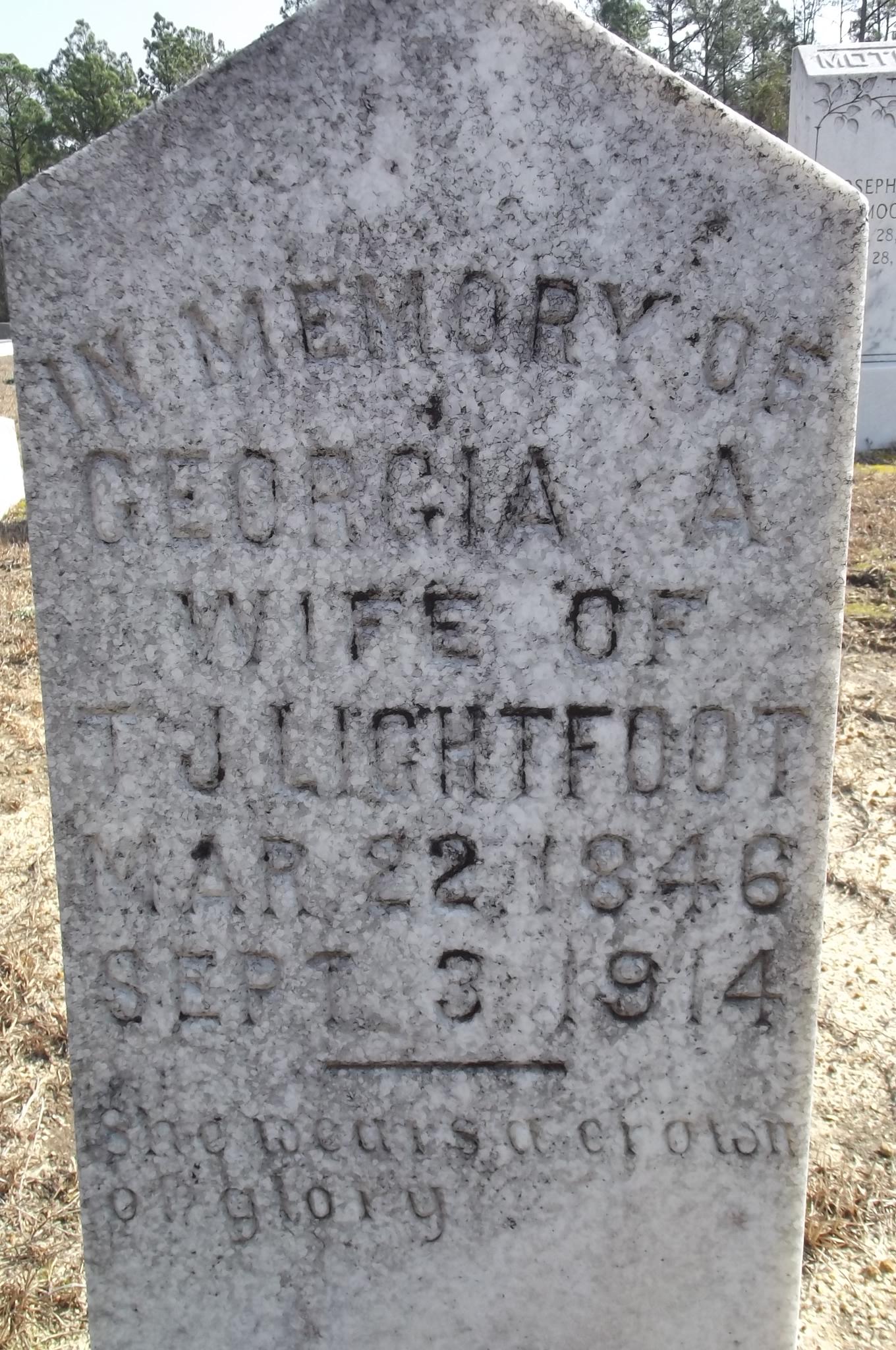 Georgia A Lightfoot