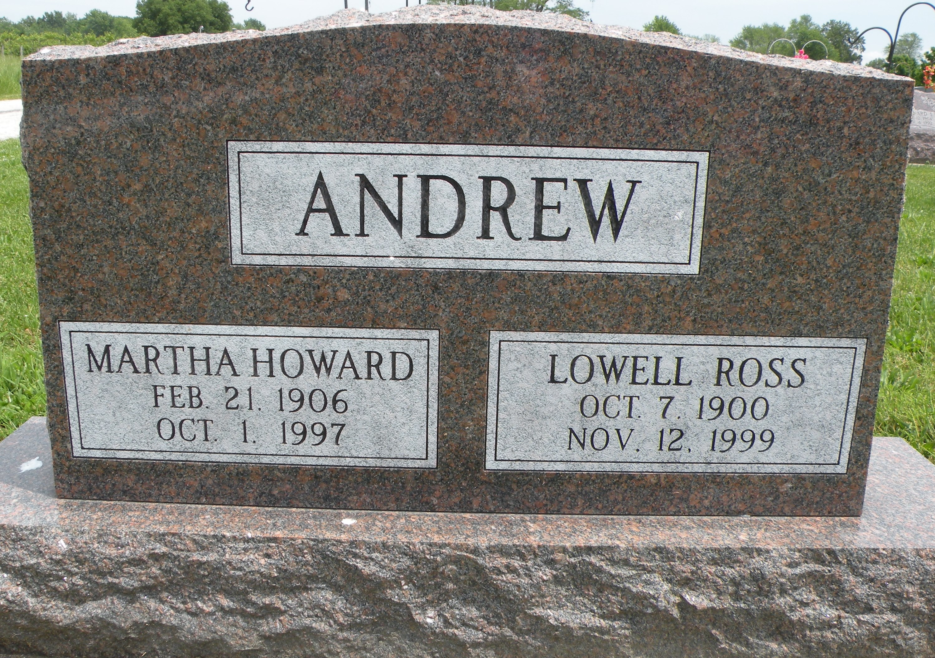 Martha <i>Howard</i> Andrew