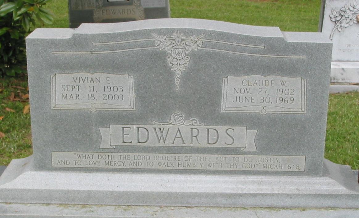 Claude W Edwards