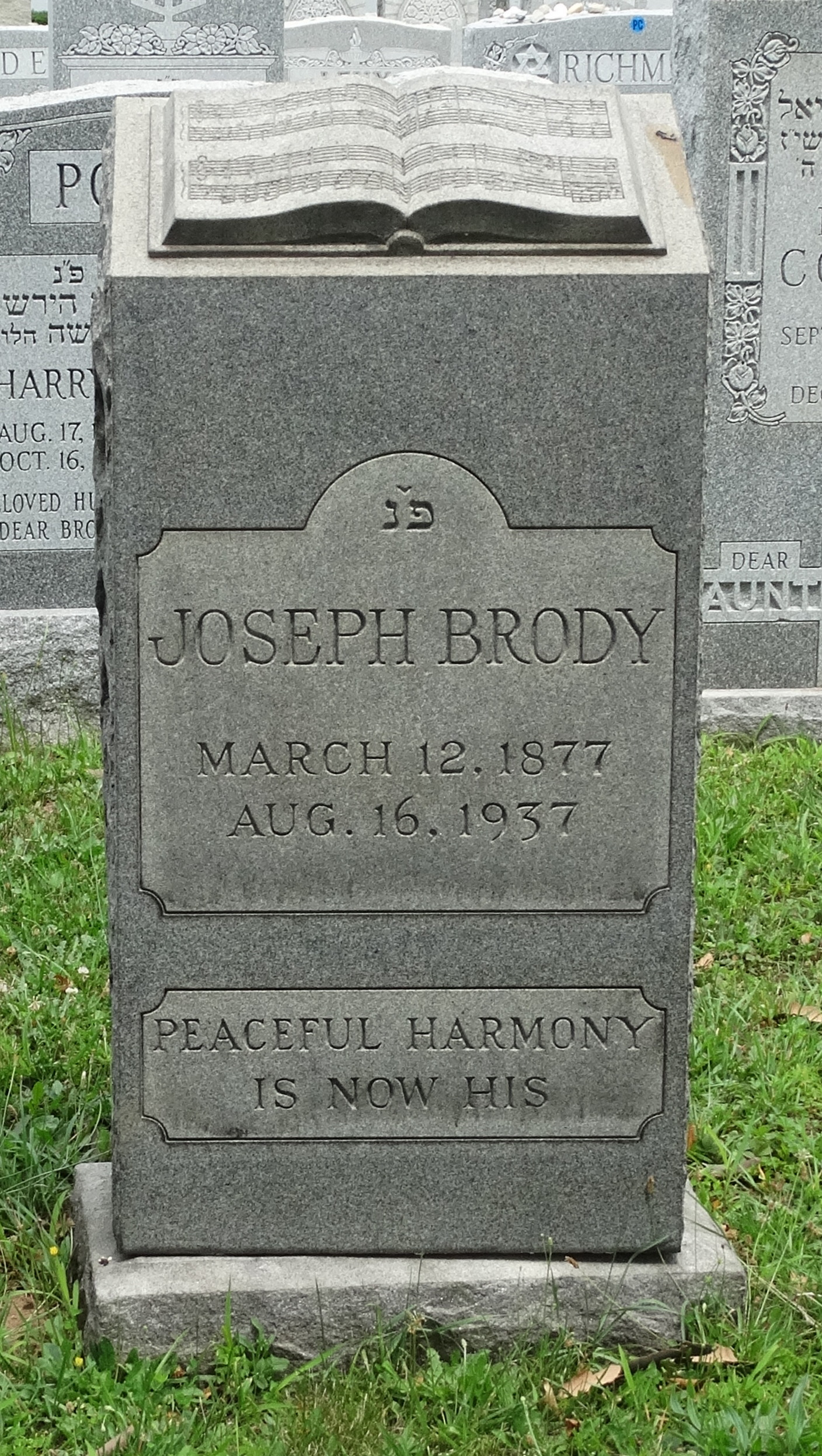 Profile photo:  Joseph Brody
