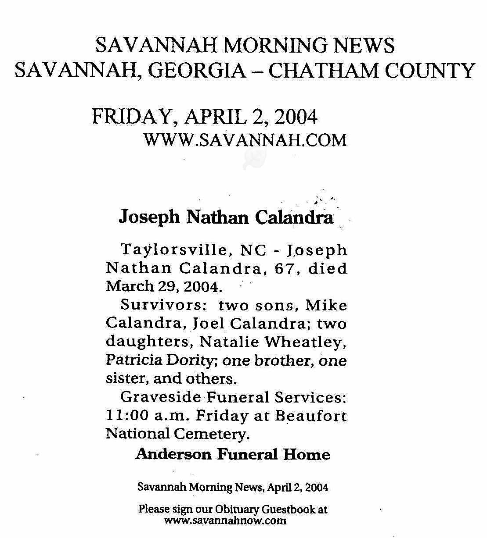 Joseph Nathan Calandra (1936-2004) - Find A Grave Memorial