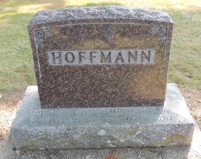 Gertrude Caroline <i>Hoffmann</i> Bauer