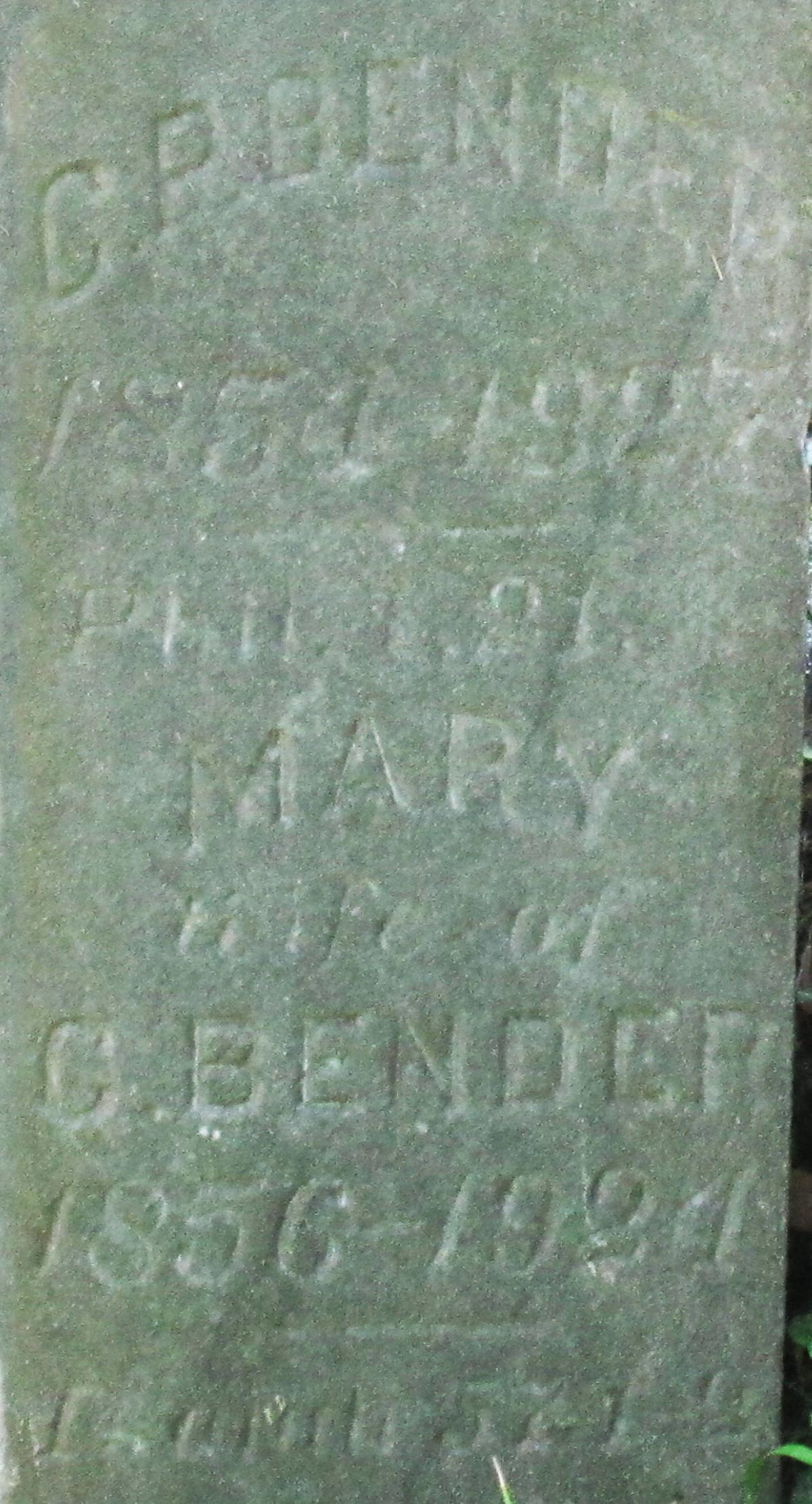 Mary <i>Felt</i> Bender