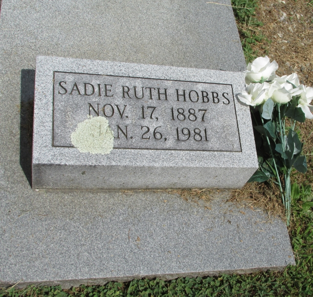 Sadie Ruth <i>Horton</i> Hobbs