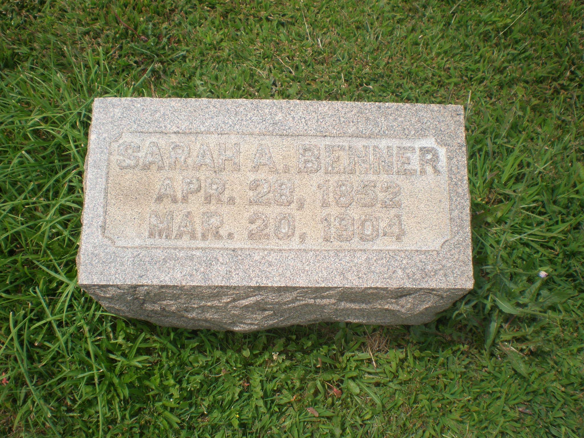 Sarah A. <i>Faust</i> Benner