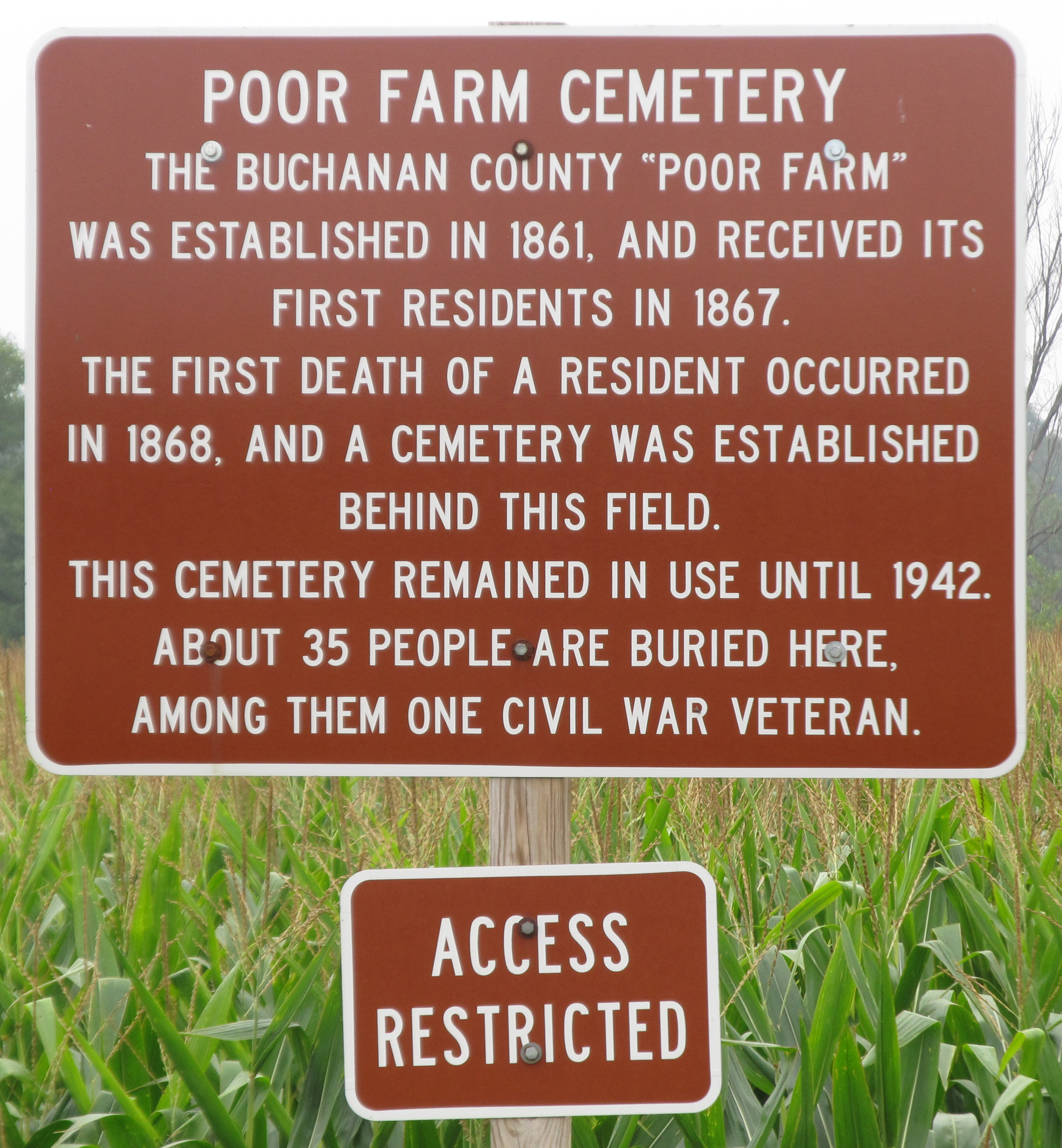 Buchanan County Poor Farm Cemetery in Independence Iowa Find A