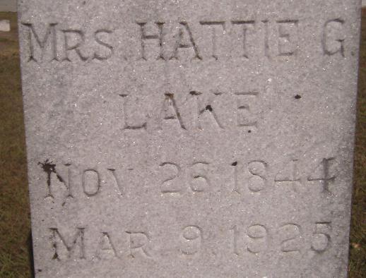 Harriet G. Hattie <i>Blake</i> Lake