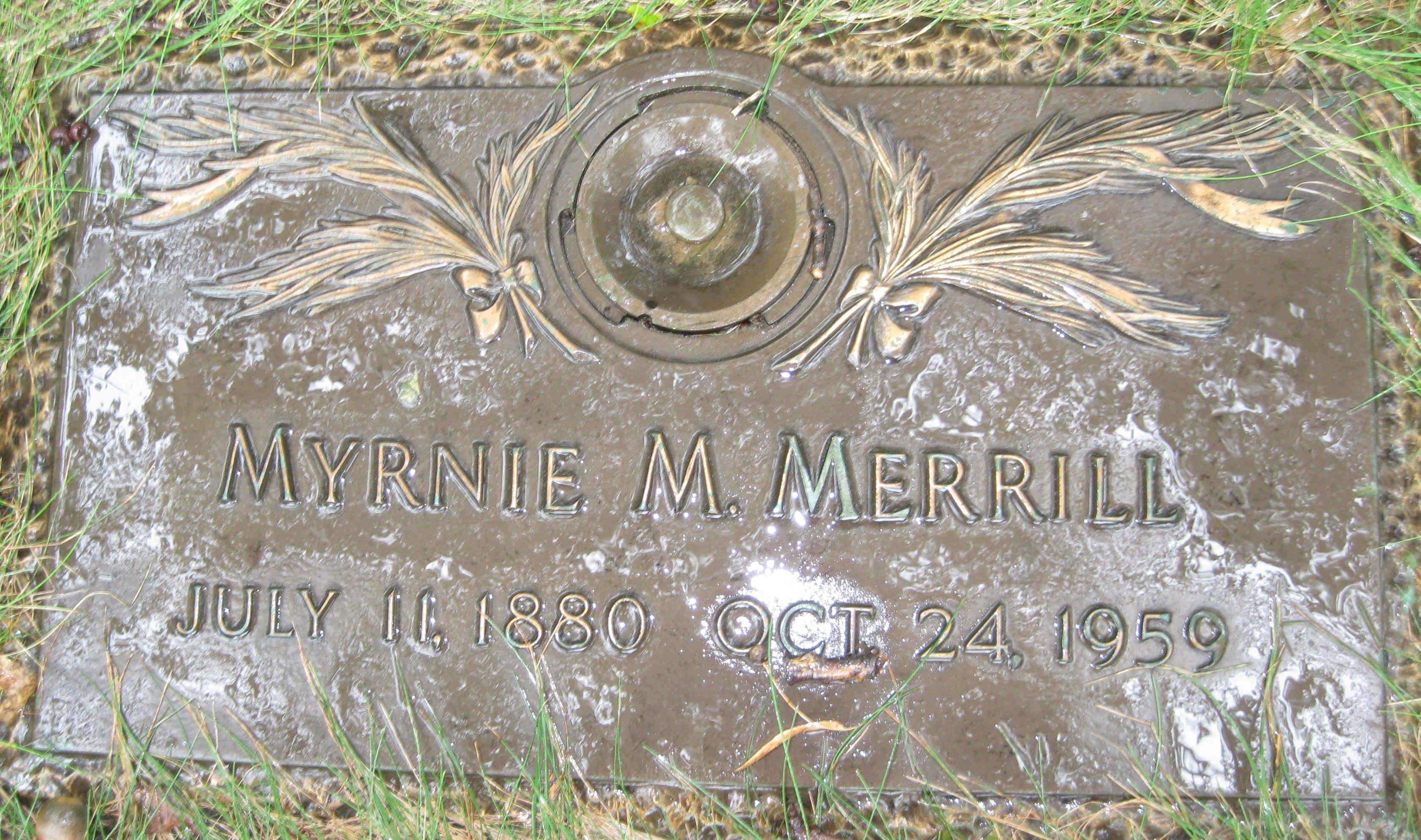 Myrna Myrtle Myrnie Merrill