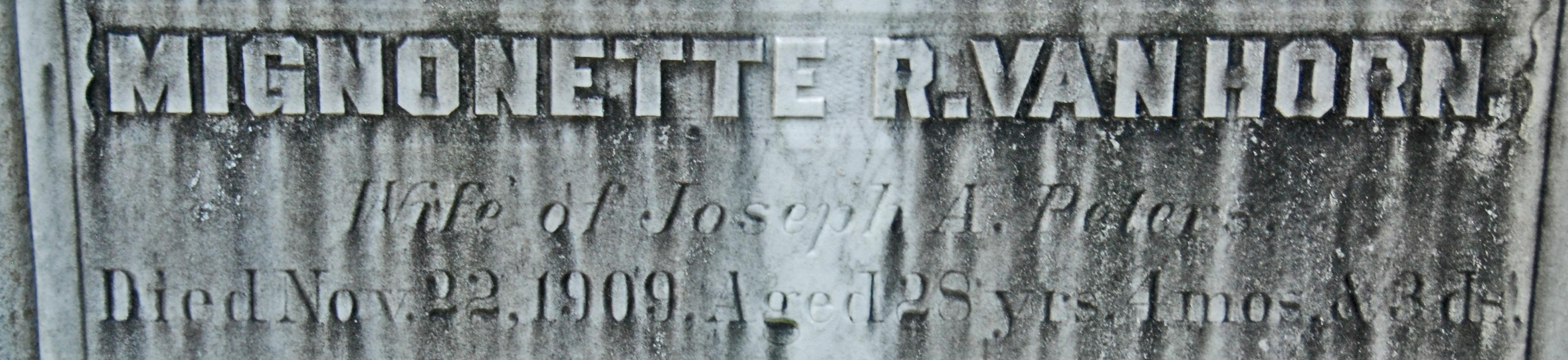 Mignonette Rutledge <i>Van Horn</i> Peters