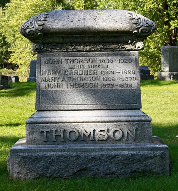 Mary Minnie <i>Gardner</i> Thomson