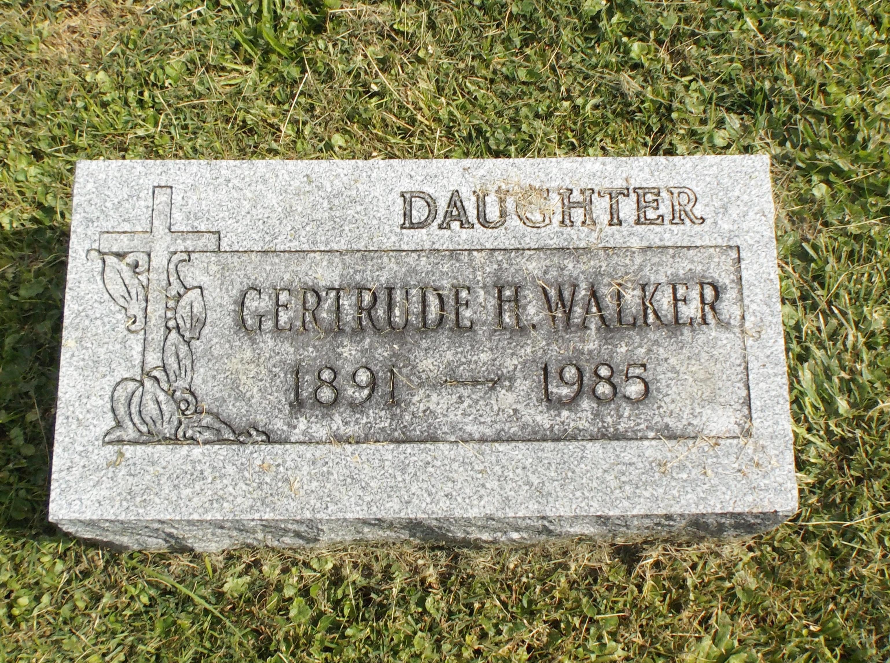 Gertrude H Walker