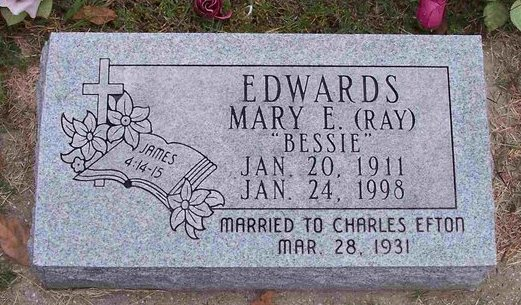 Mary Elizabeth Bessie <i>Ray</i> Edwards