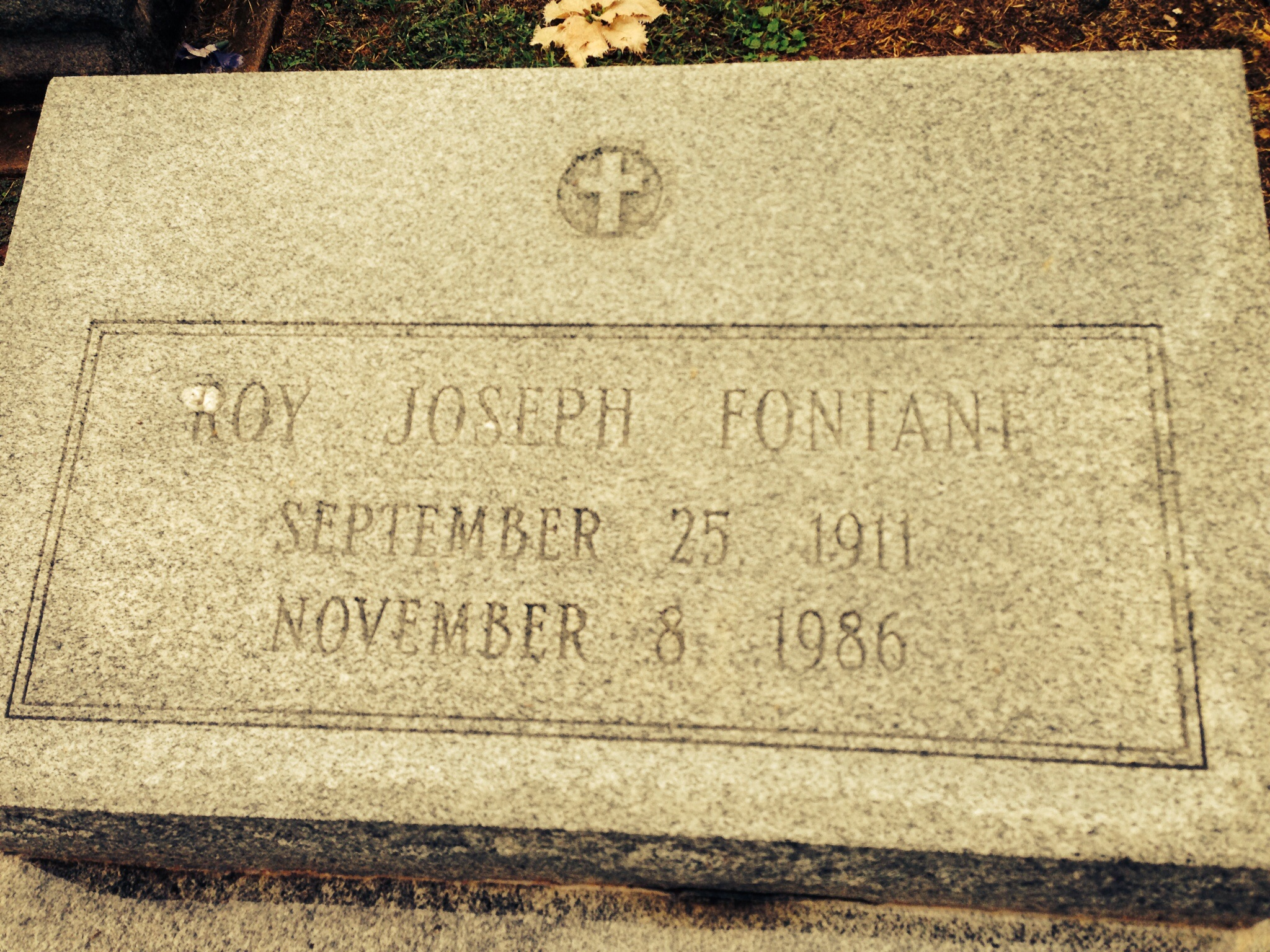 Roy Joseph Fontane Find A Grave Memorial