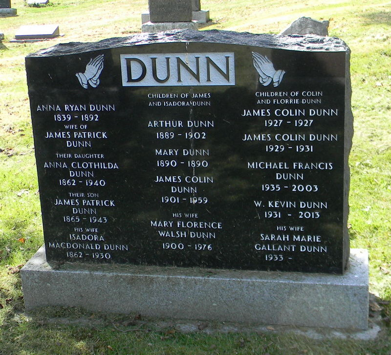 Anna Ryan Dunn 1839 1892 Find A Grave Memorial