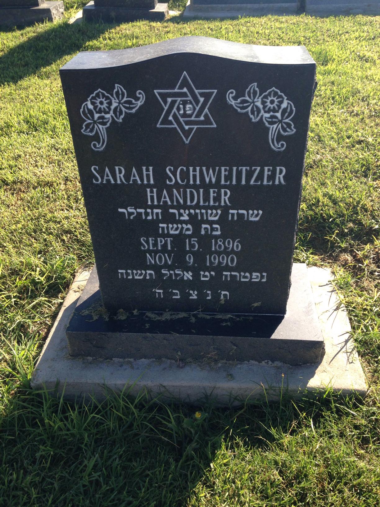 Sarah <i>Schweitzer</i> Handler