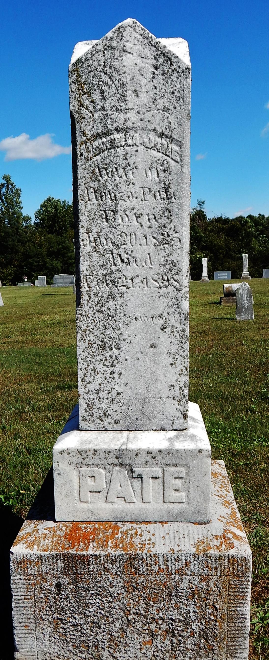 Marcella Jane Mary <i>Elder</i> Pate