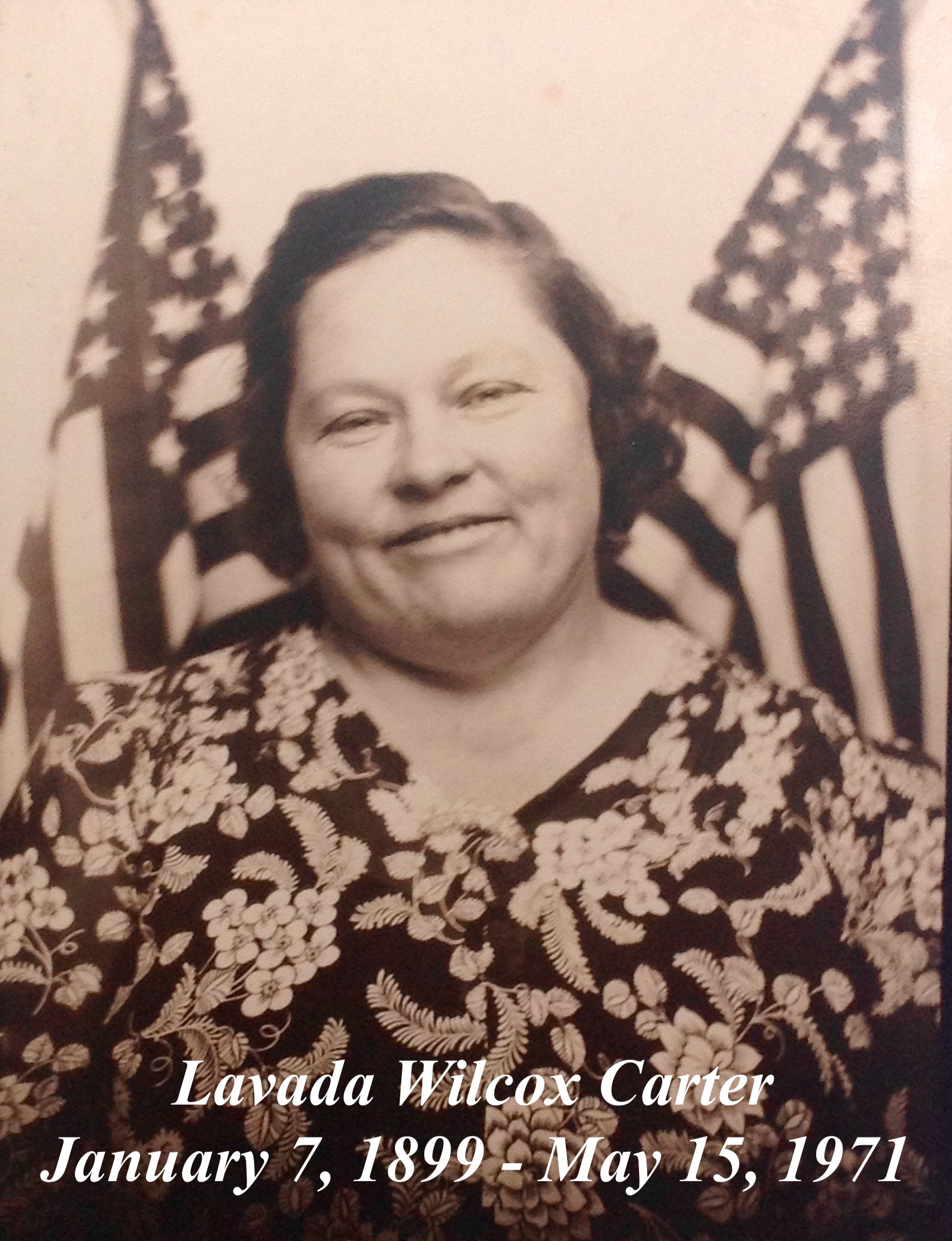Rhoda Lavada Vada <i>Wilcox</i> Carter
