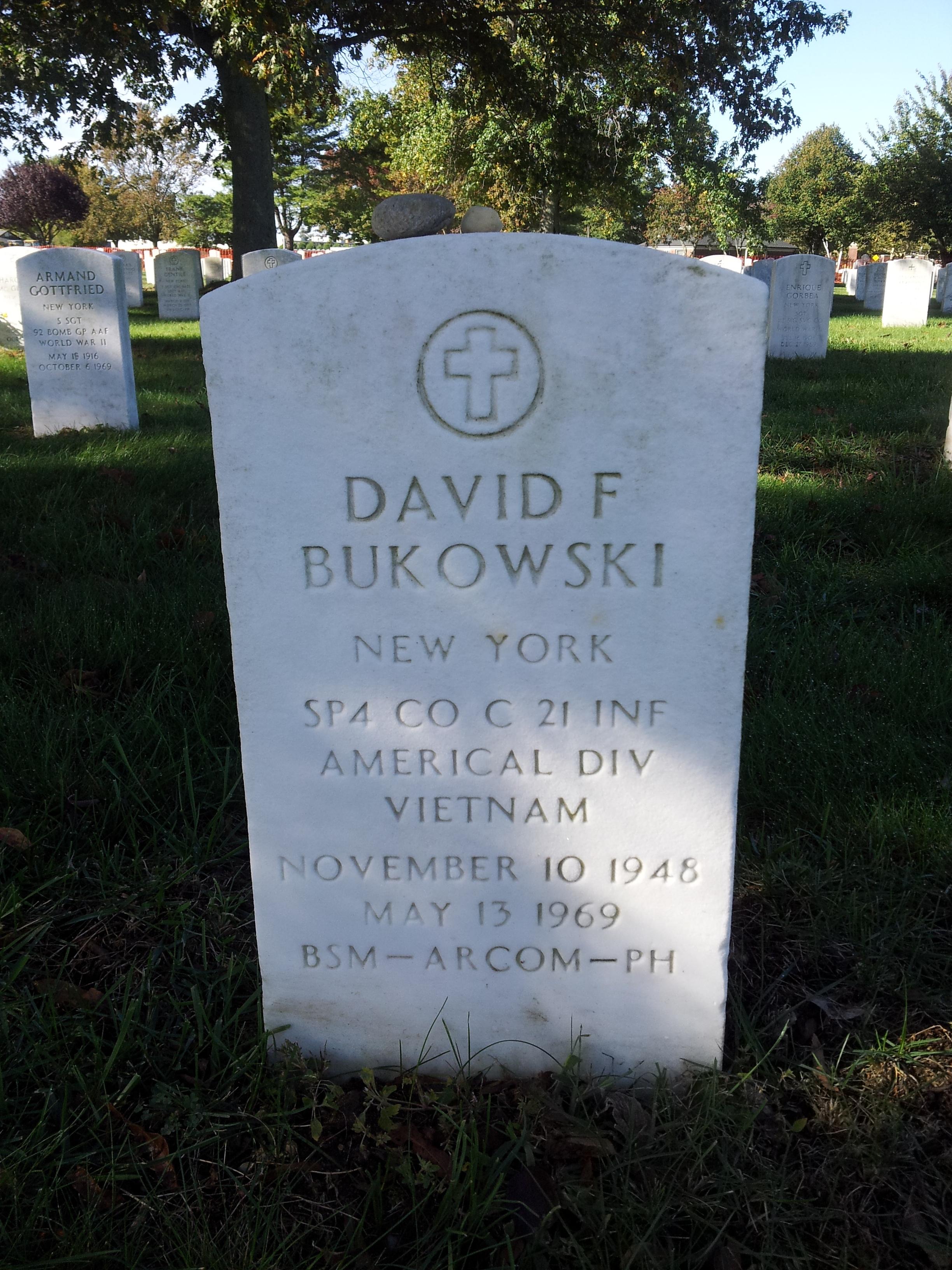 Spec David Frederick Bukowski
