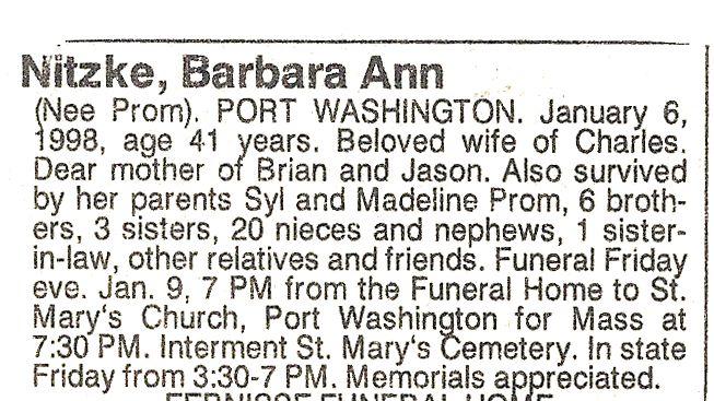 Barbara A. <i>Prom</i> Nitzke