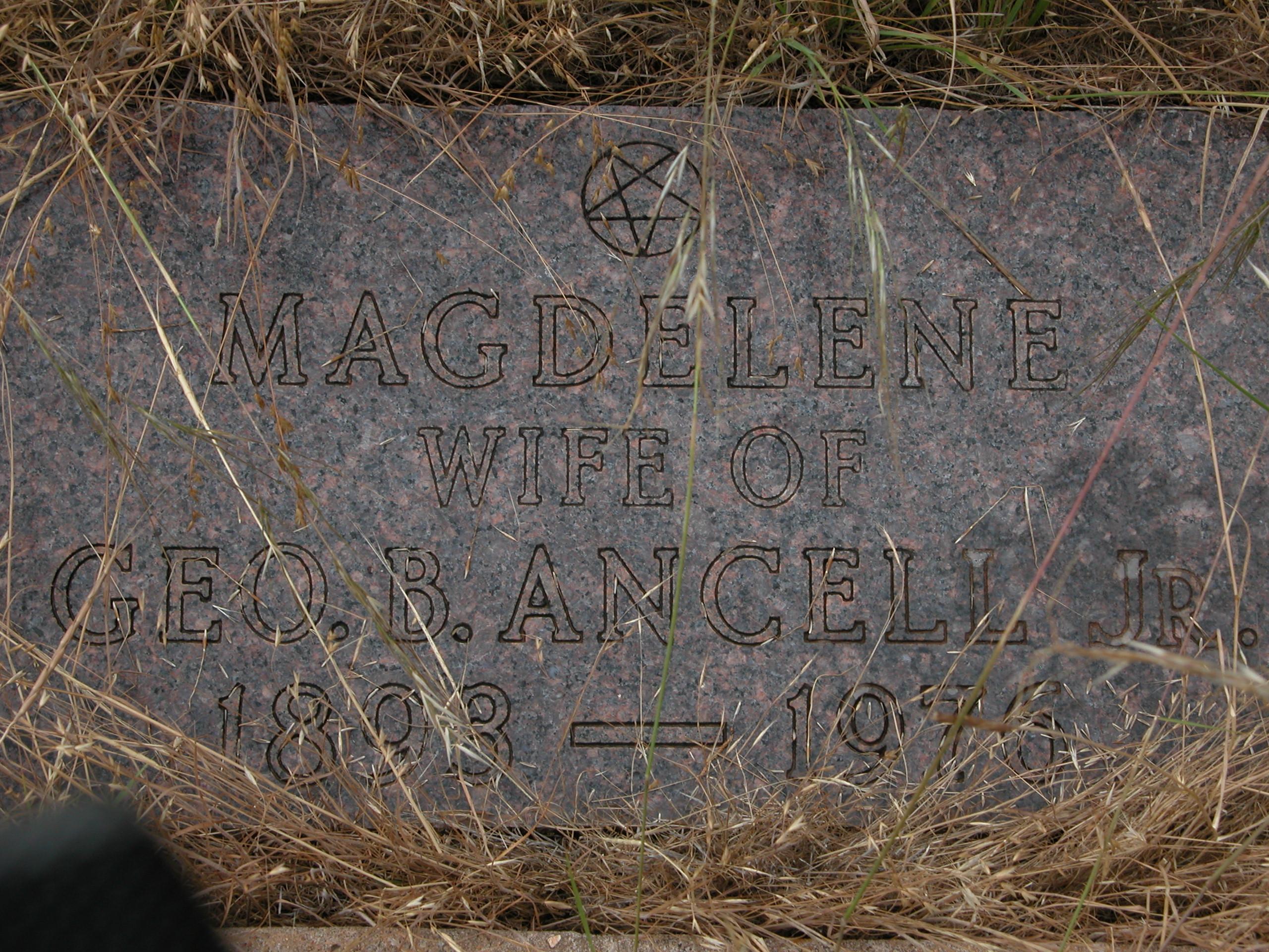 Magdelene Maggie <i>Satterwhite</i> Ancell