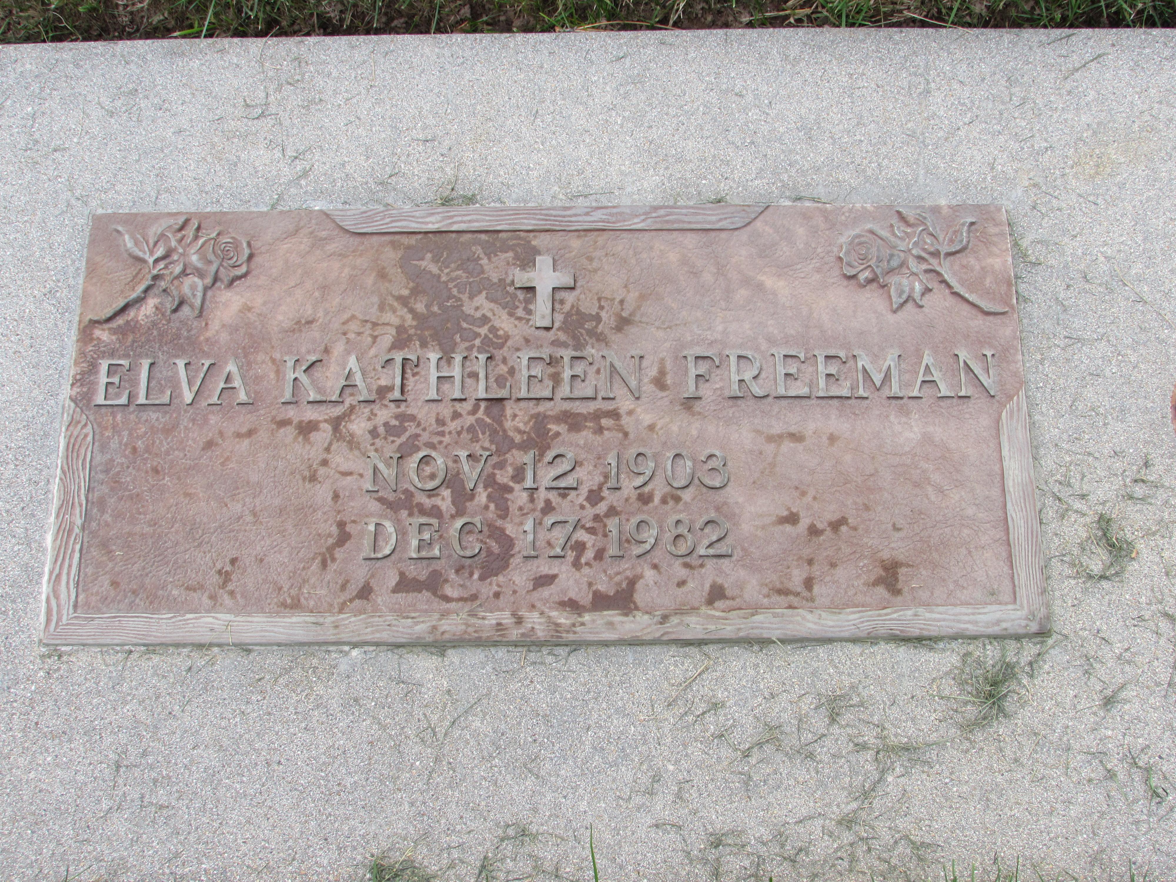 Elva Kathleen <i>Bollinger</i> Freeman
