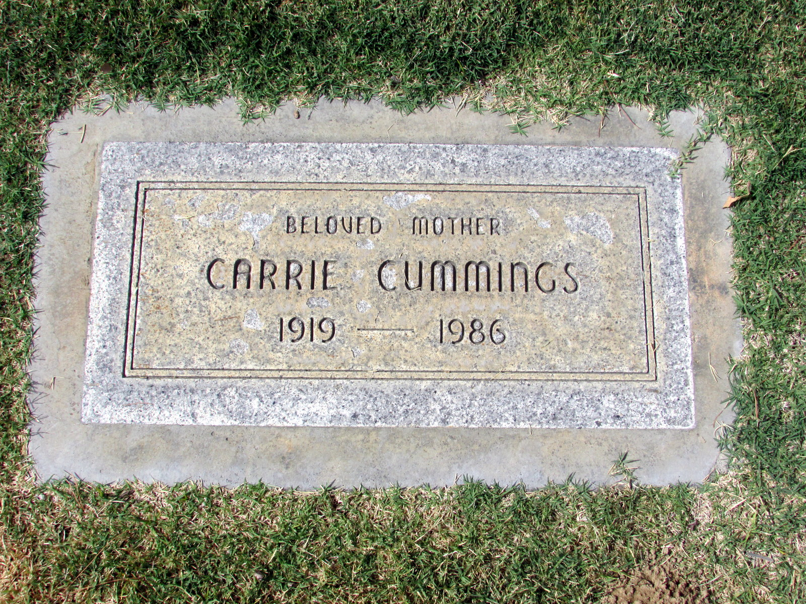 carrie cummings (1919-1986) - find a grave memorial