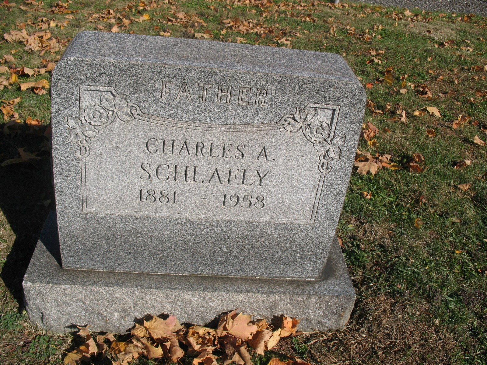 Charles A Schlafly 1881 1958
