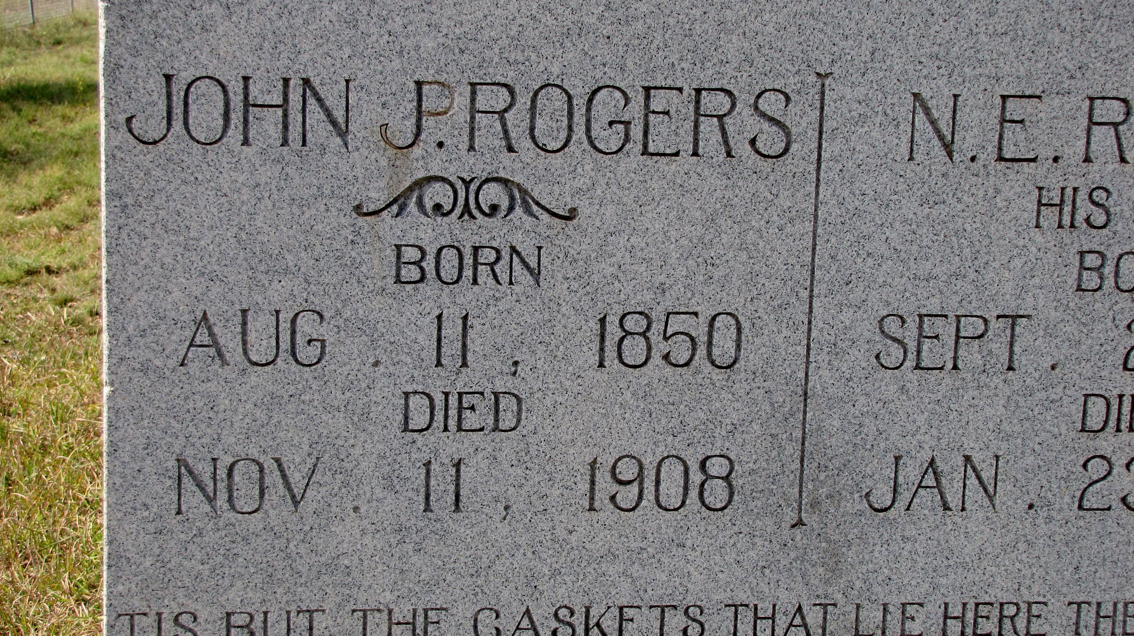 John Peter Rogers 1850 1908 Find A Grave Memorial