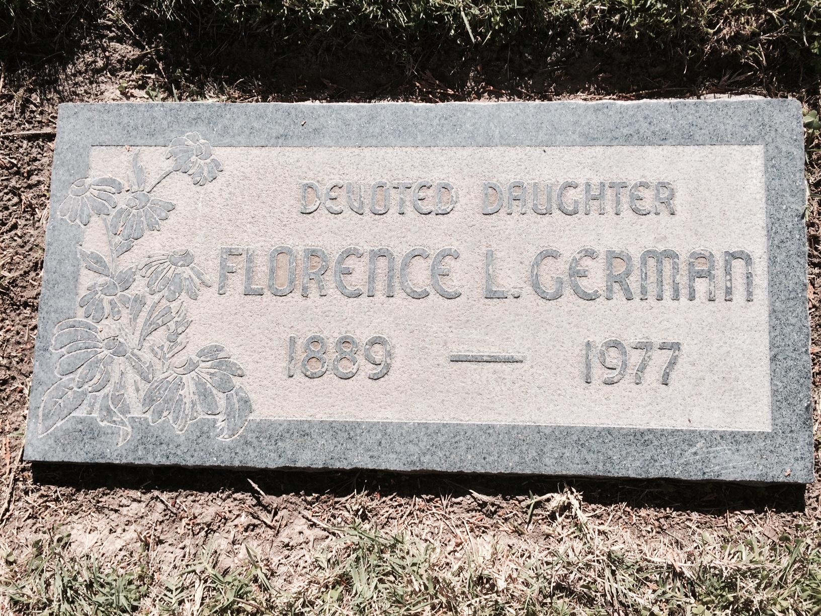 Florence Laura <i>Stephenson</i> Clark German