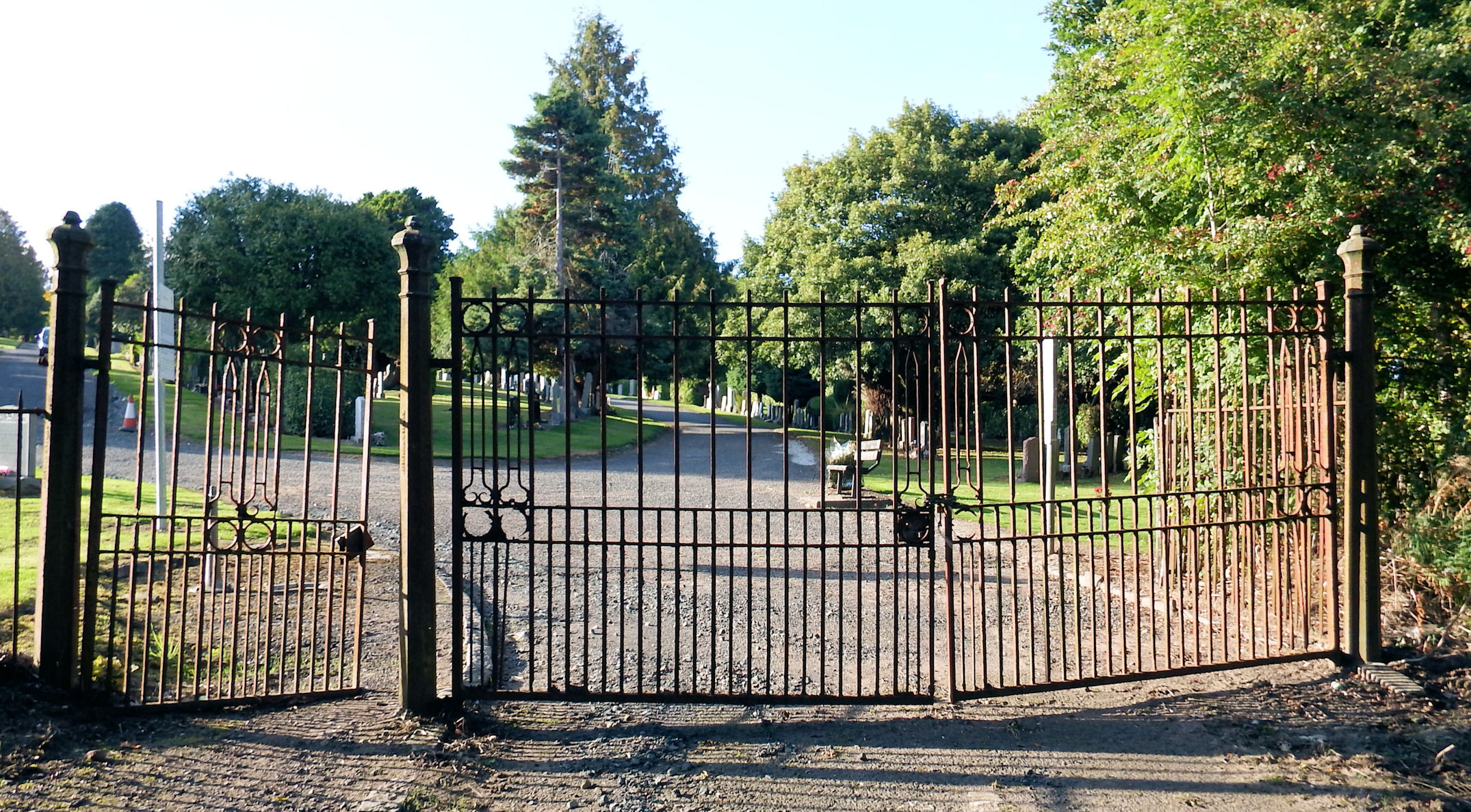 Vale of Leven Cemetery in Alexandria, West Dunbartonshire
