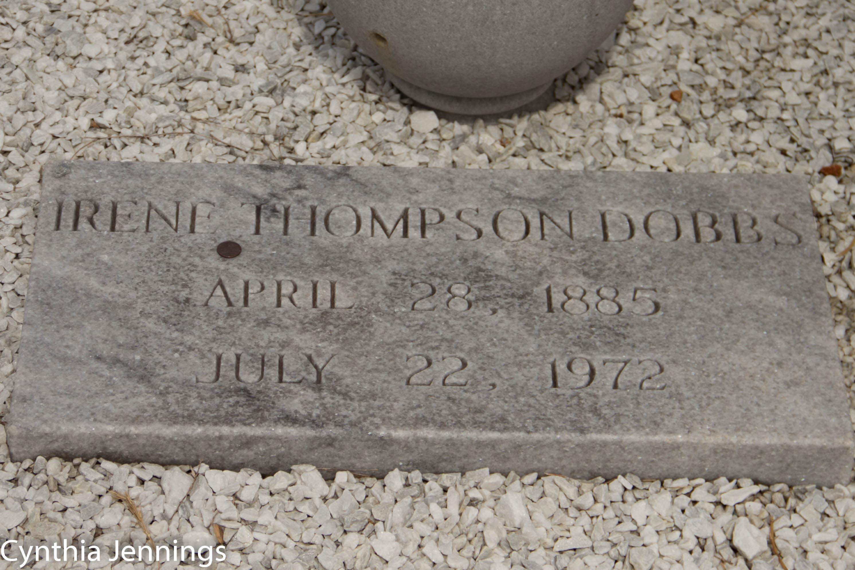 Irene Ophelia <i>Thompson</i> Dobbs
