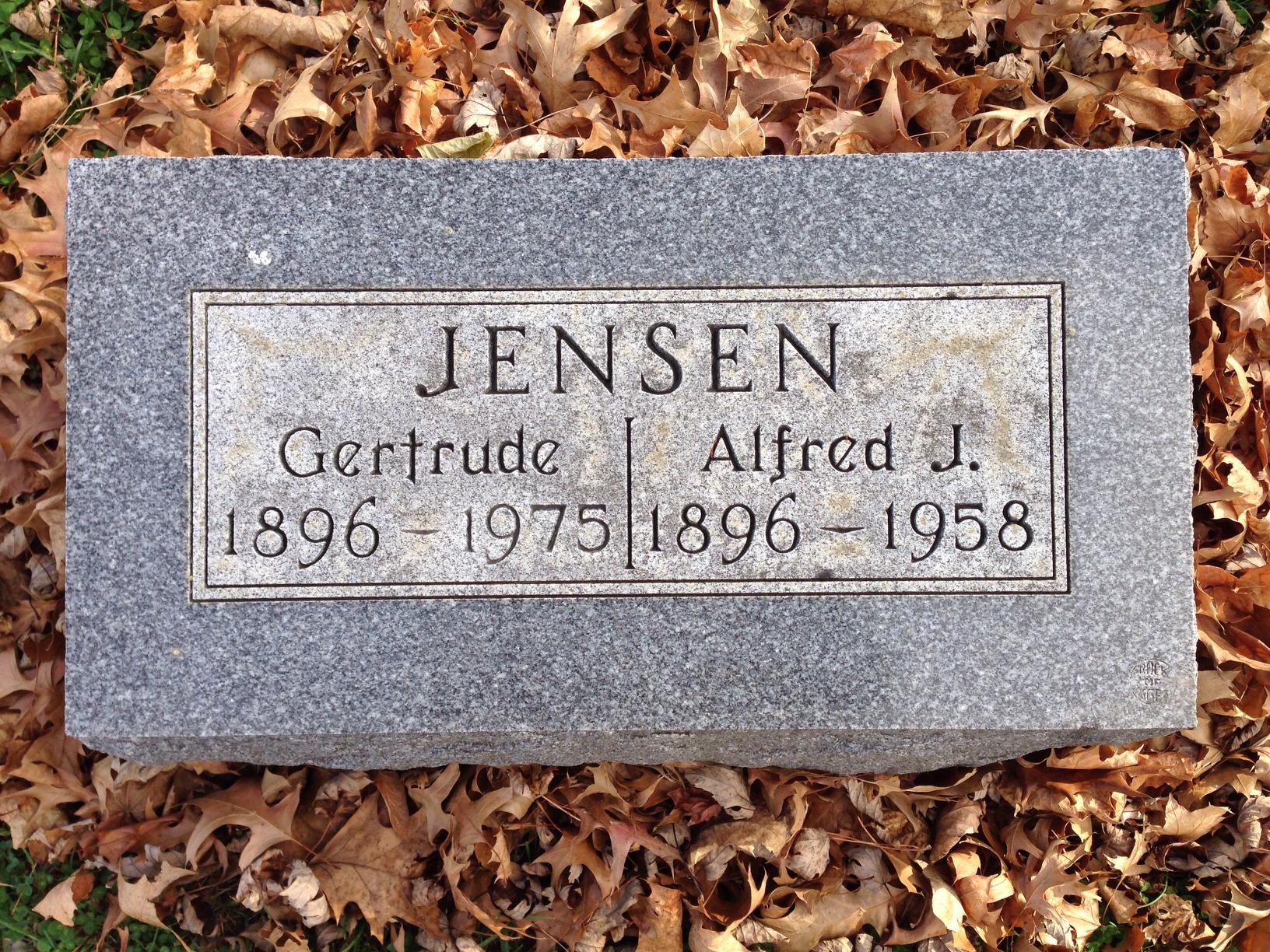 Gertrude Elizabeth <i>Kiner</i> Jensen