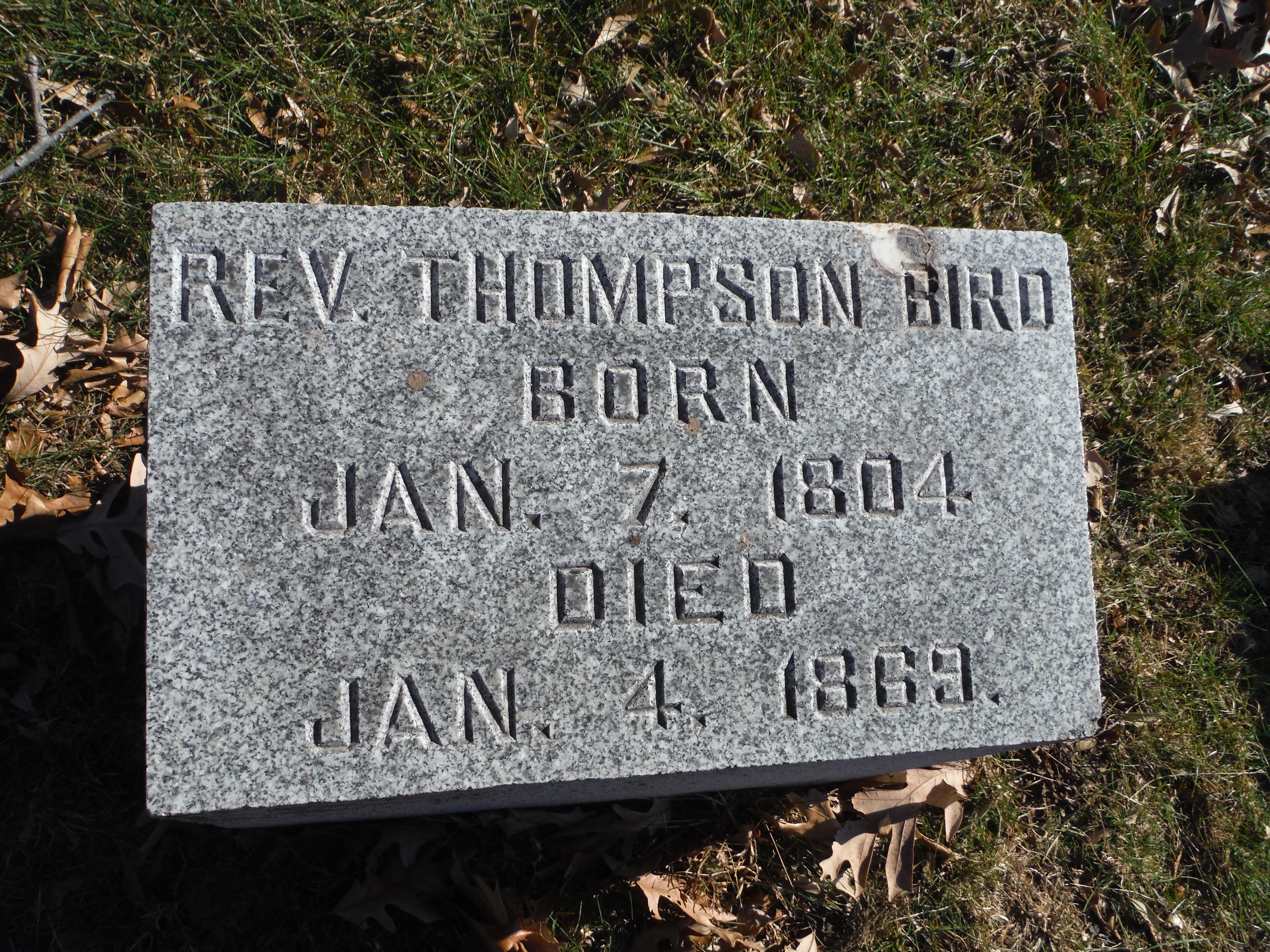 Rev Thompson Father Bird Bird