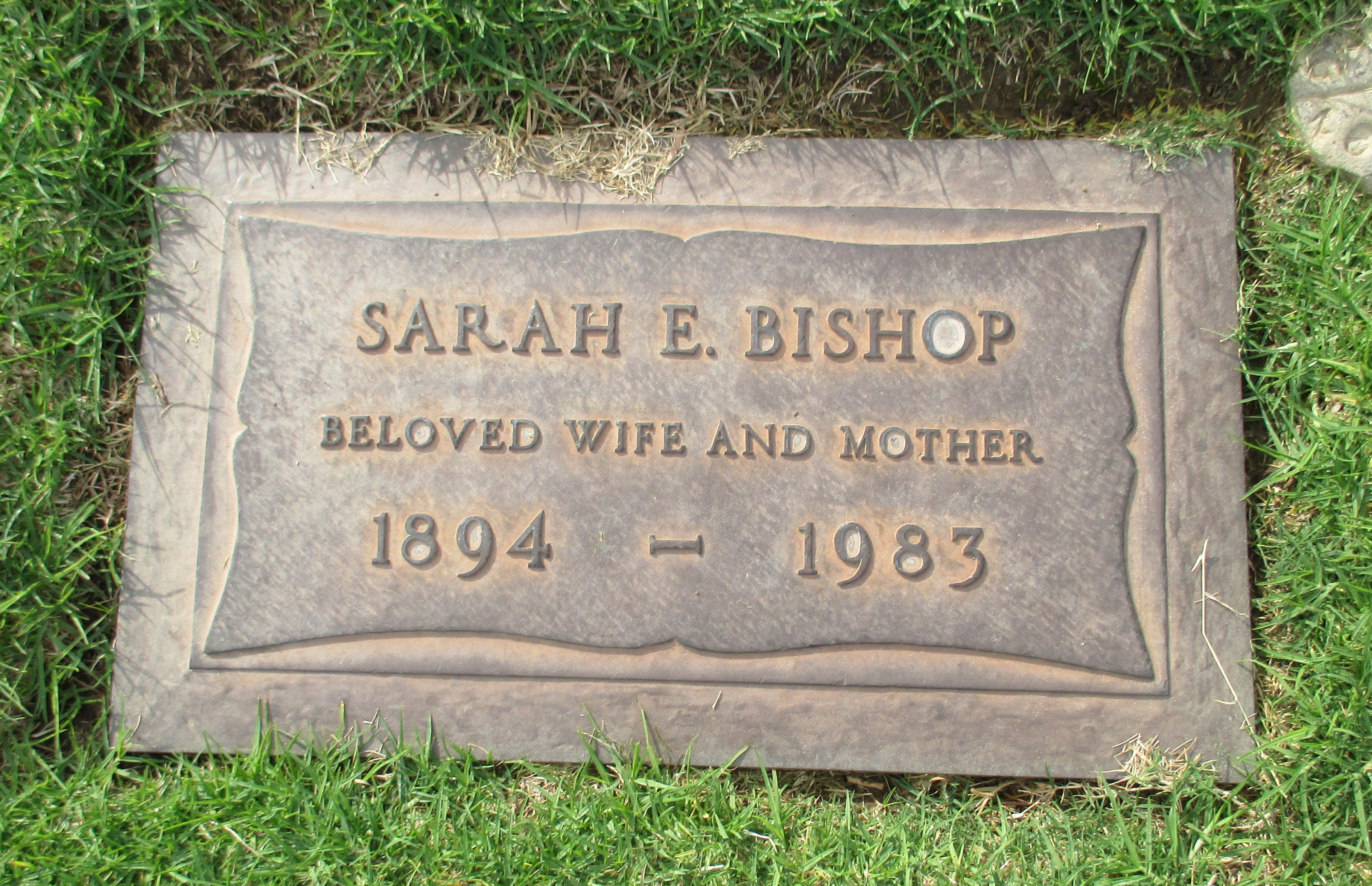 Sarah E <i>Stevens</i> Bishop