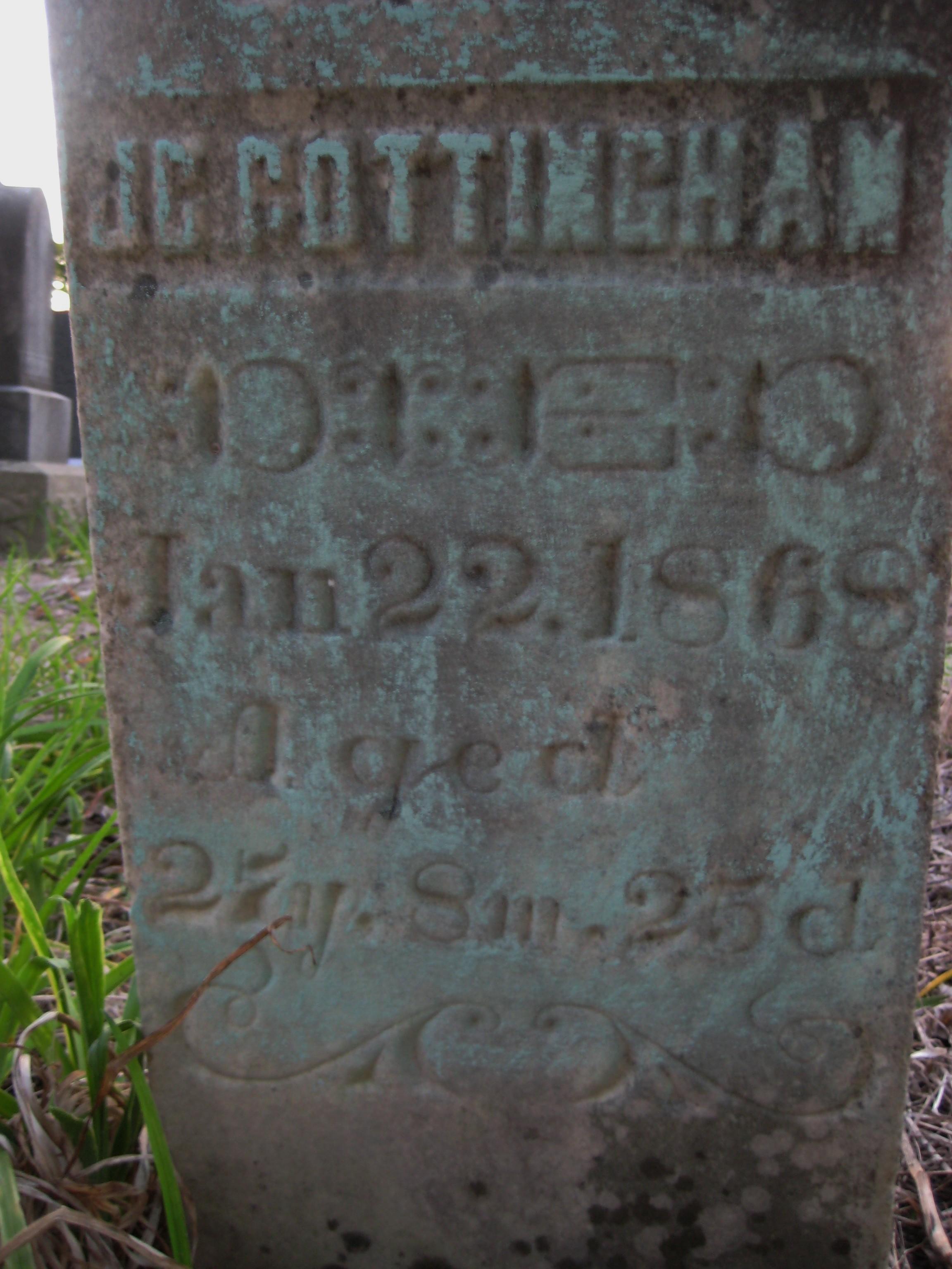 James clayborn cottingham 1840 1868 find a grave memorial