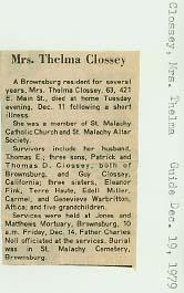 Thelma L. <i>Davis</i> Clossey