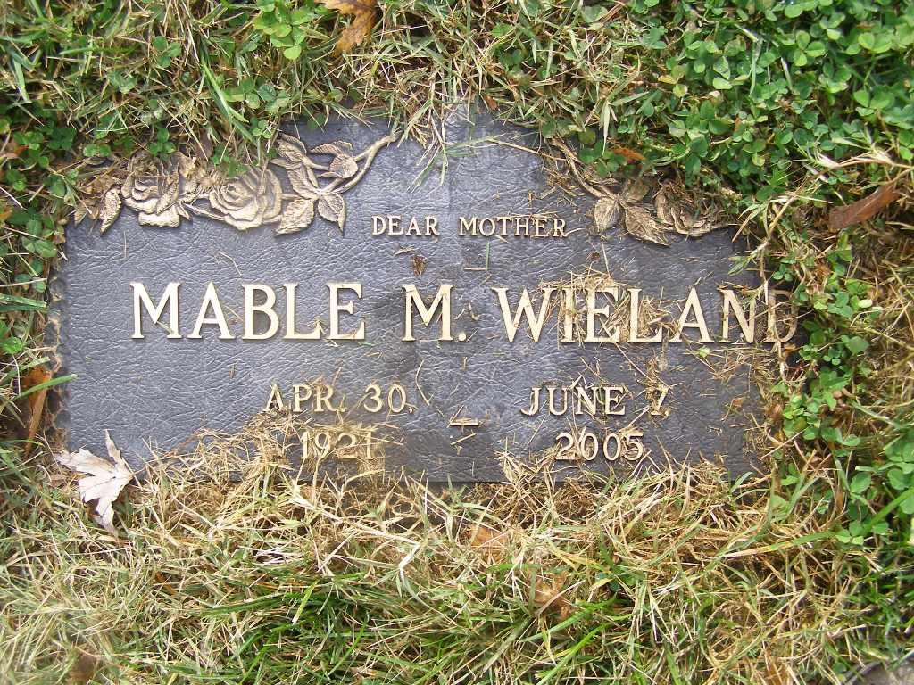 Mabel M. <i>Gregory</i> Wieland