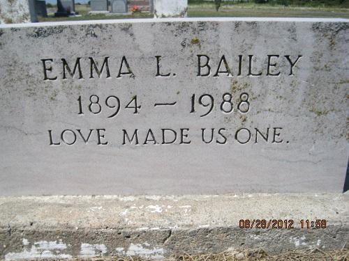 Emma Lee <i>Hamlett</i> Bailey