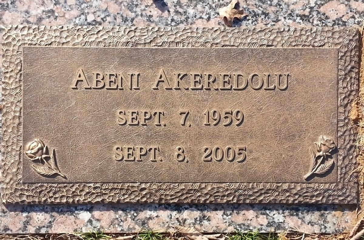 Abeni Akeredolu (1959-2005) - Find A Grave Memorial