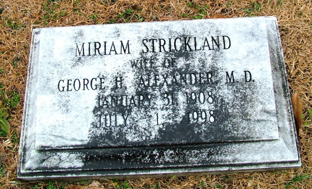 Miriam <i>Strickland</i> Alexander